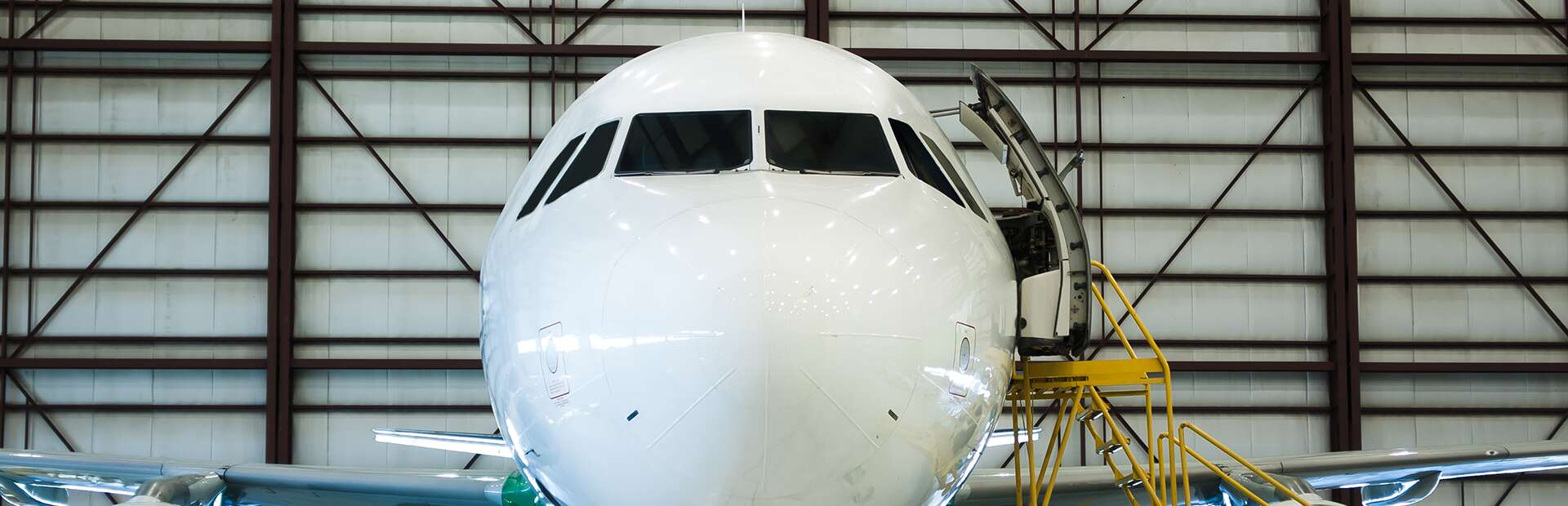 the nose of a private jet
